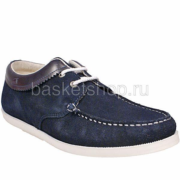мужские синие  ботинки saha l010261-p14428c/7770 - цена, описание, фото 1
