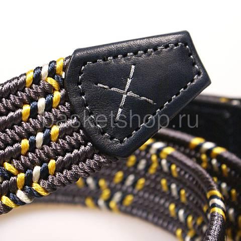 мужской серый, синий, желтый  zigzag belt l011562-p241g66/z400 - цена, описание, фото 2