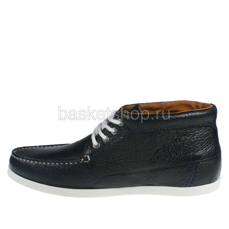 Купить мужские темно-синие, белые  ботинки benson в магазинах Streetball изображение - 2 картинки
