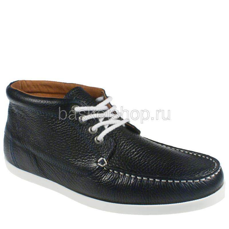 Купить мужские темно-синие, белые  ботинки benson в магазинах Streetball изображение - 1 картинки