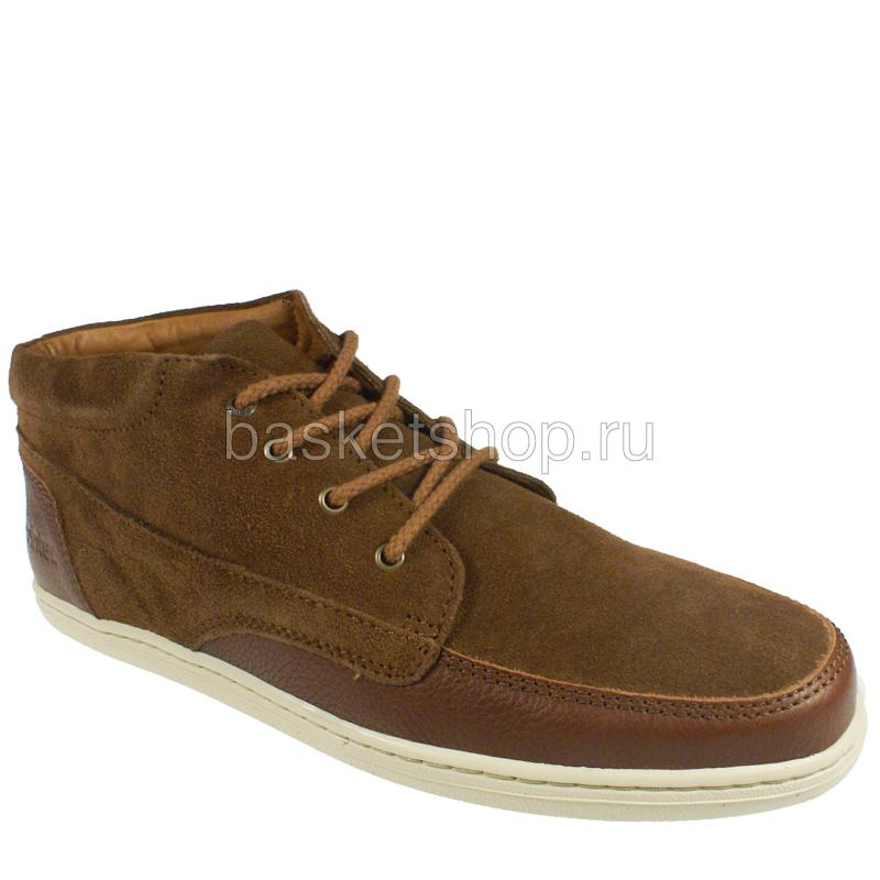 мужские коричневые, белые  ботинки barajas mid ii 1010227/5784 - цена, описание, фото 1