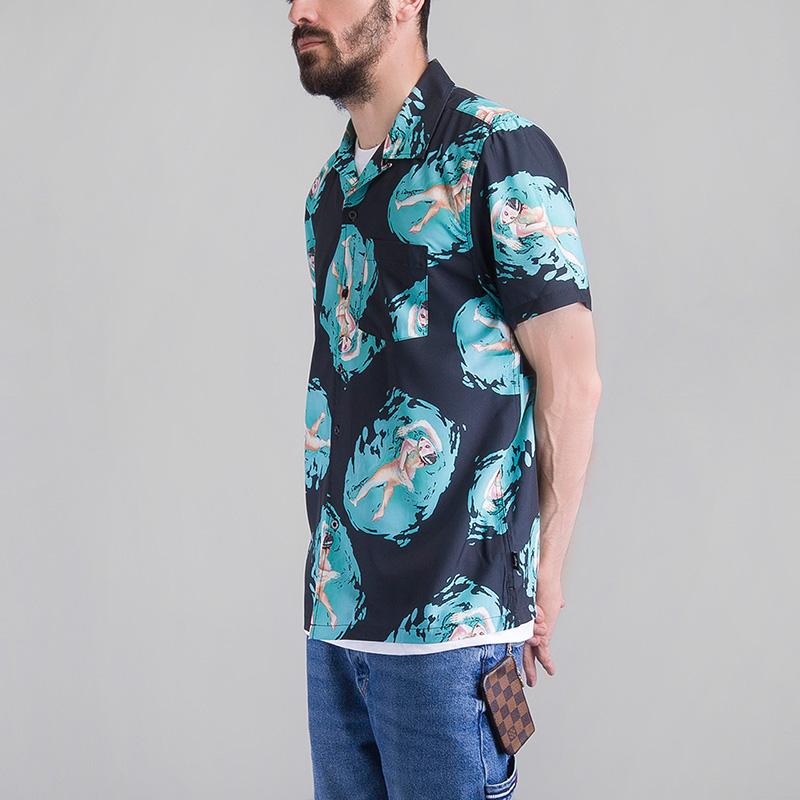 Рубашка Stussy HARUMI YAMAGUCHI SHIRTПоло рубашки<br>Нейлон<br><br>Цвет: Черный<br>Размеры US: S;L<br>Пол: Мужской