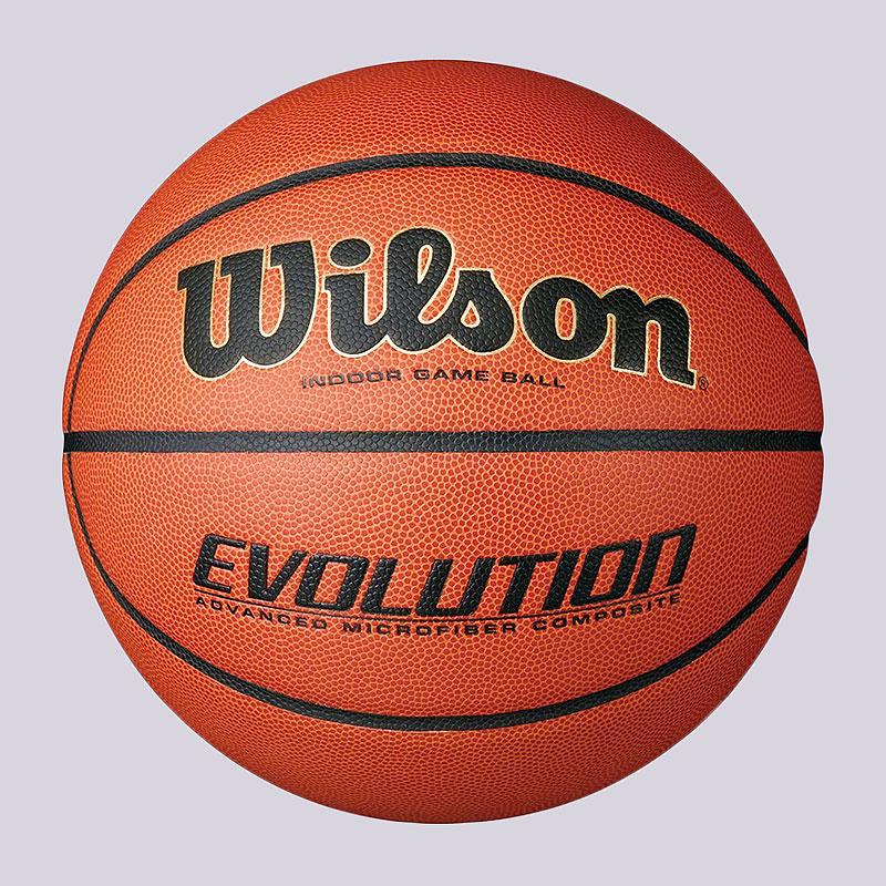Мяч Wilson Evolution №7Мячи<br>композитное покрытие из микрофибры<br><br>Цвет: коричневый, черный<br>Размеры : 7