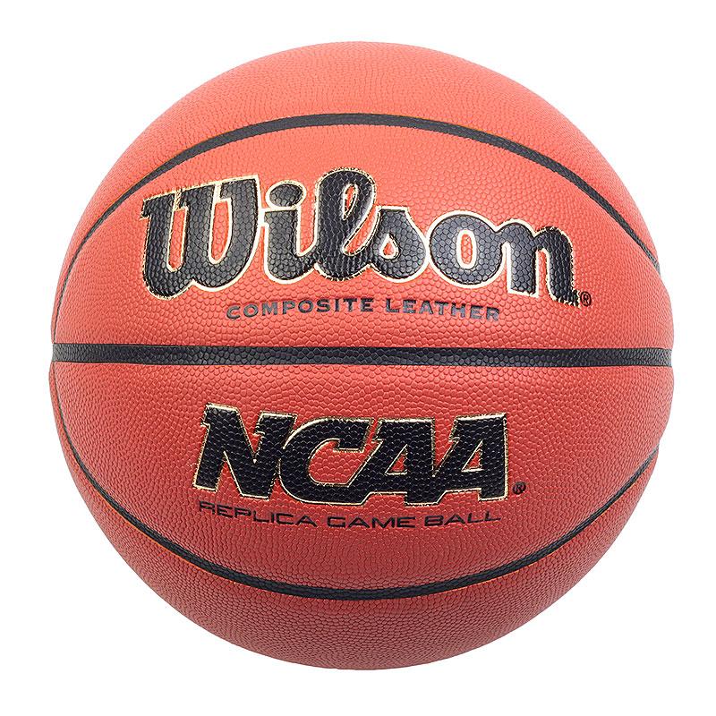 Мяч NCAA Replica №7Мячи<br>влаговпитывающая композитная кожа<br><br>Цвет: коричневый, черный<br>Размеры : 7