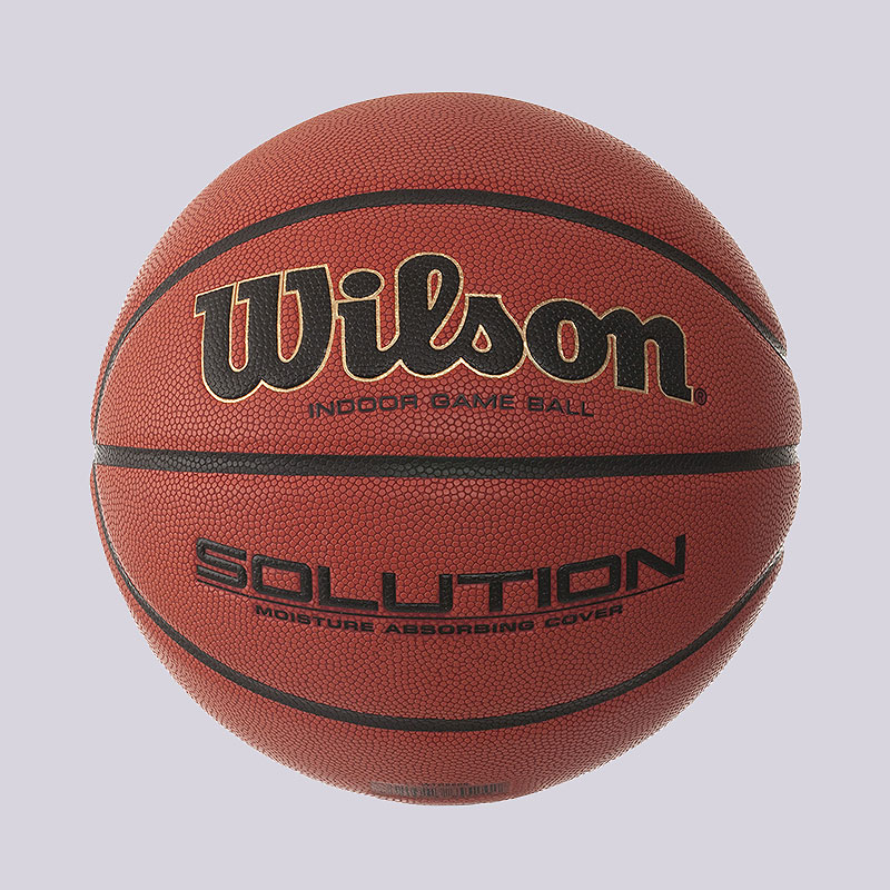 рыжий  мяч wilson solution fiba № 6 b0686x - цена, описание, фото 1
