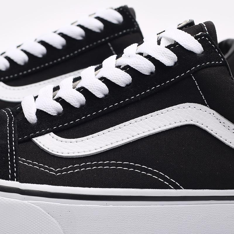 черные, белые  кроссовки vans old skool VD3HY28 - цена, описание, фото 5