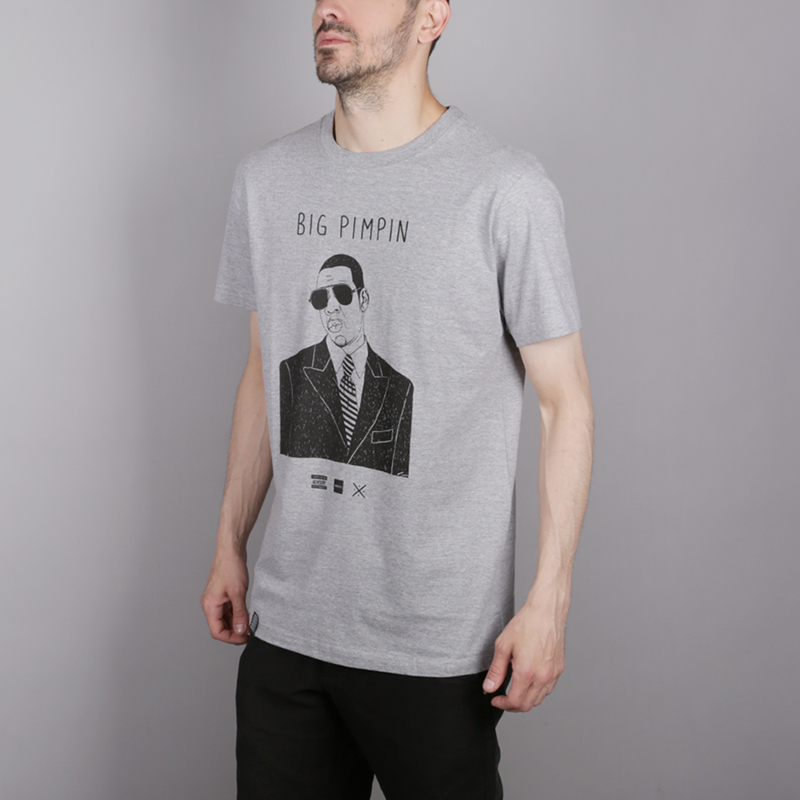 мужскую серую  футболка wemoto pimpin b146-heather - цена, описание, фото 3