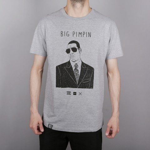 серую  футболка wemoto pimpin b146-heather - цена, описание, фото 2