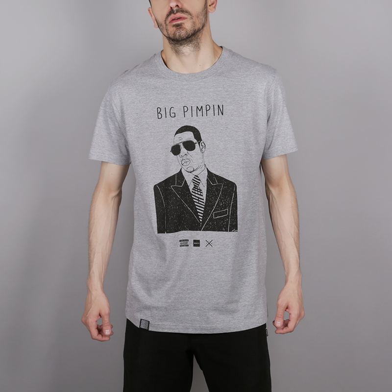 мужскую серую  футболка wemoto pimpin b146-heather - цена, описание, фото 1