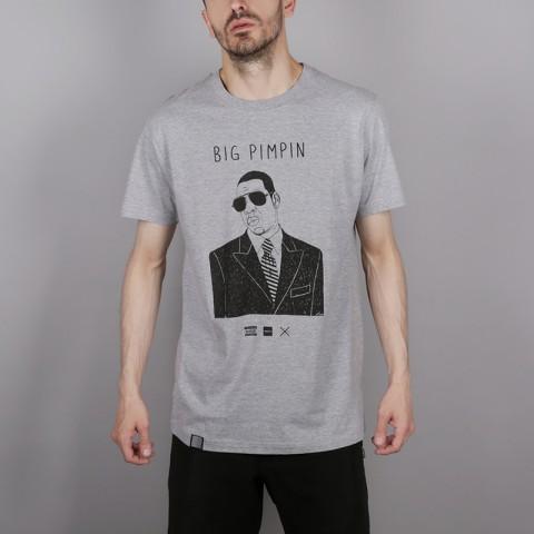 серую  футболка wemoto pimpin b146-heather - цена, описание, фото 1