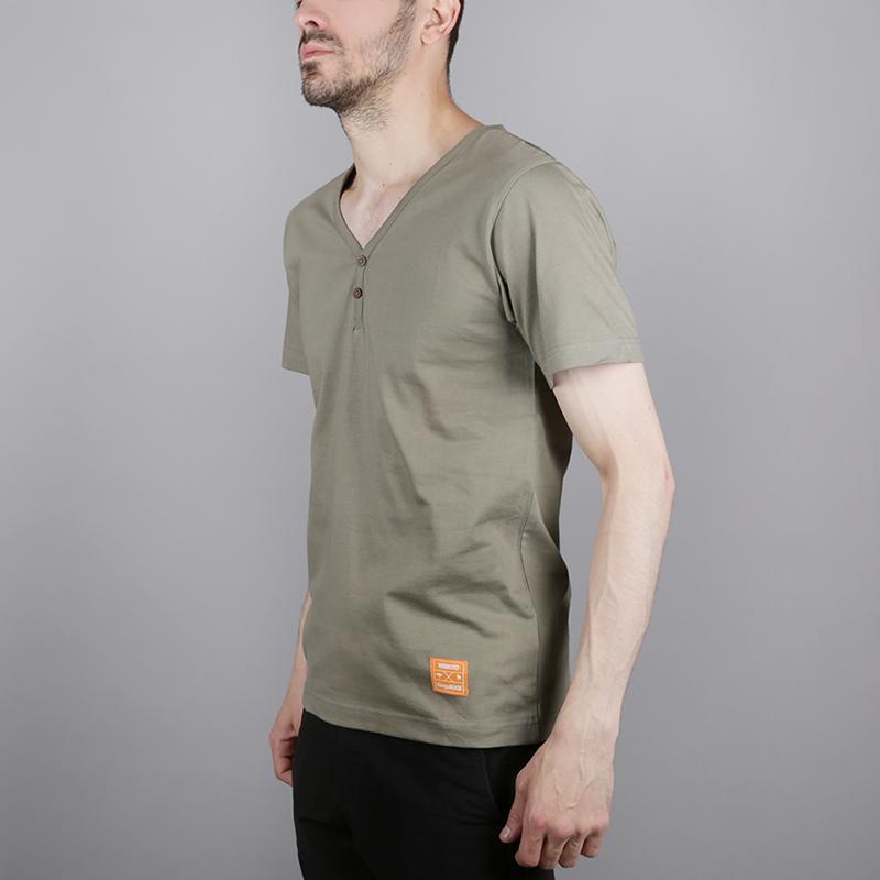 мужскую зелёную  футболка wemoto wemoto x roos 1W00670830 - цена, описание, фото 2