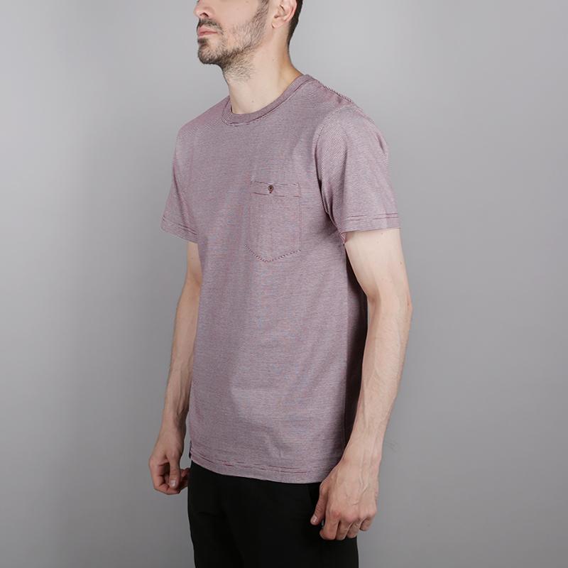 мужскую бордовую, белую  футболка wemoto blake C101-BurgundyWhite - цена, описание, фото 2