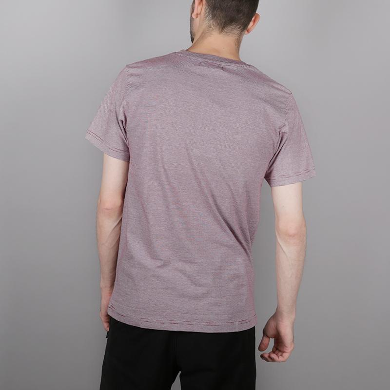 мужскую бордовую, белую  футболка wemoto blake C101-BurgundyWhite - цена, описание, фото 3
