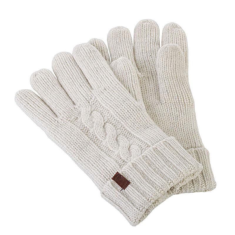 Купить бежевые  перчатки timberland chunky merino glove в магазинах Streetball изображение - 1 картинки