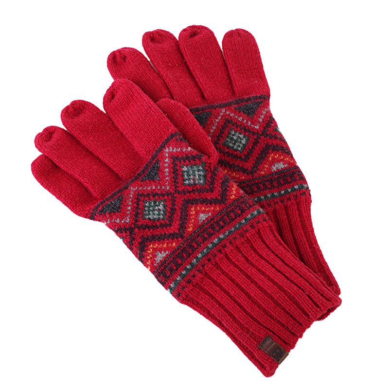 Перчатки Timberland Fairisle GloveПерчатки<br>100% шерсть<br><br>Цвет: красный<br>Размеры US: 1SIZE