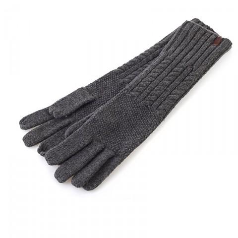 серые  перчатки timberland long merino cable knit J1060/010 - цена, описание, фото 1