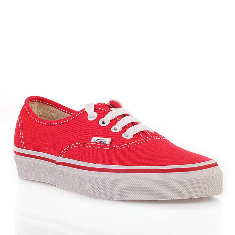 Купить мужские красные  кеды vans authentic trainer в магазинах Streetball изображение - 1 картинки
