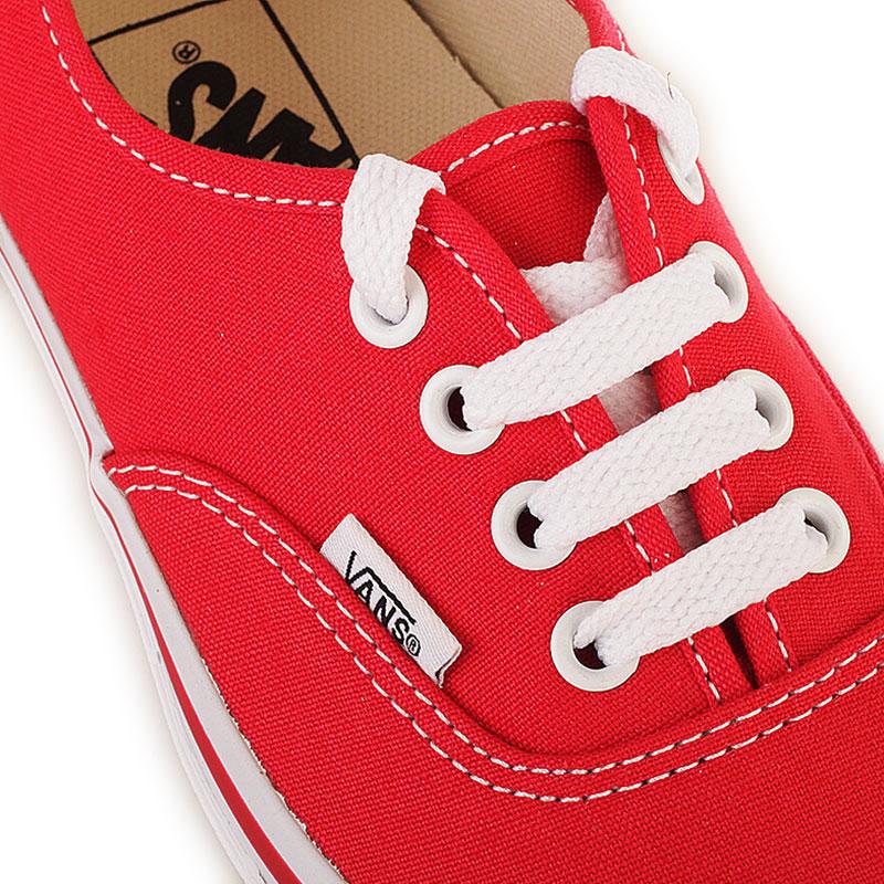 Купить мужские красные  кеды vans authentic trainer в магазинах Streetball изображение - 2 картинки
