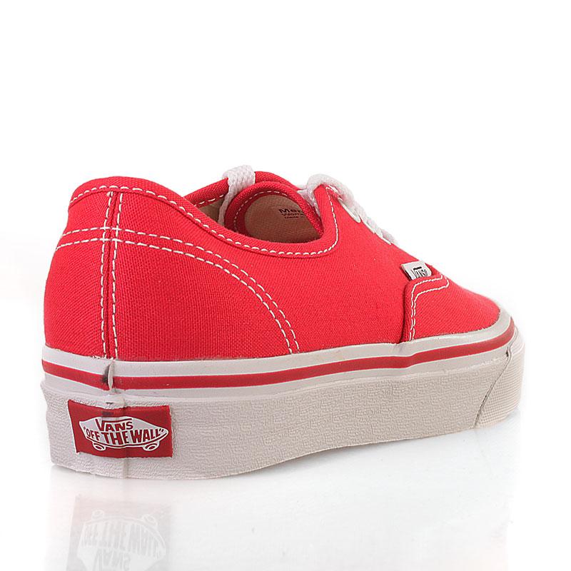 Купить мужские красные  кеды vans authentic trainer в магазинах Streetball изображение - 3 картинки