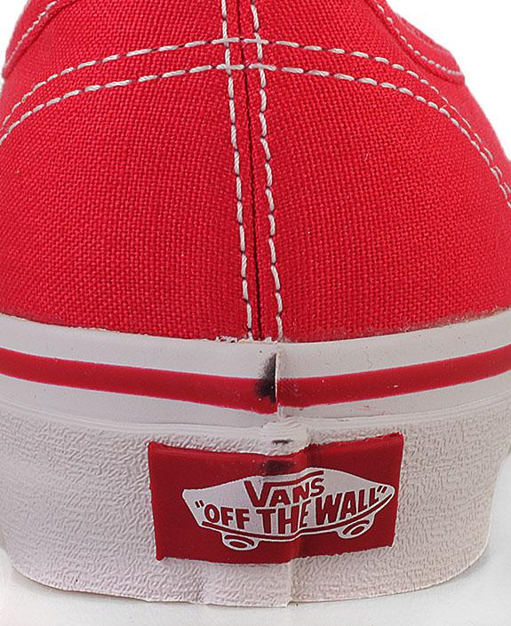 Купить мужские красные  кеды vans authentic trainer в магазинах Streetball изображение - 4 картинки
