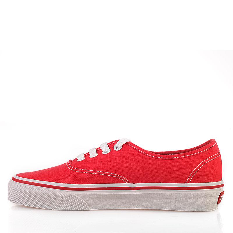 Купить мужские красные  кеды vans authentic trainer в магазинах Streetball изображение - 5 картинки