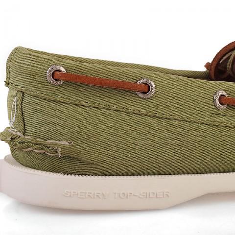 женские зеленые  мокасины a/o 2-eye twill SP9067356 - цена, описание, фото 3