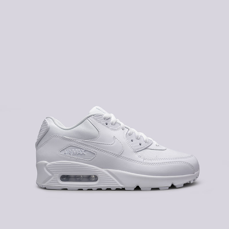 Кроссовки Nike Air Max 90 EssentialКроссовки lifestyle<br>кожа, синтетика, текстиль, резина<br><br>Цвет: белый<br>Размеры US: 10;12;10.5;9.5;11;11.5<br>Пол: Мужской