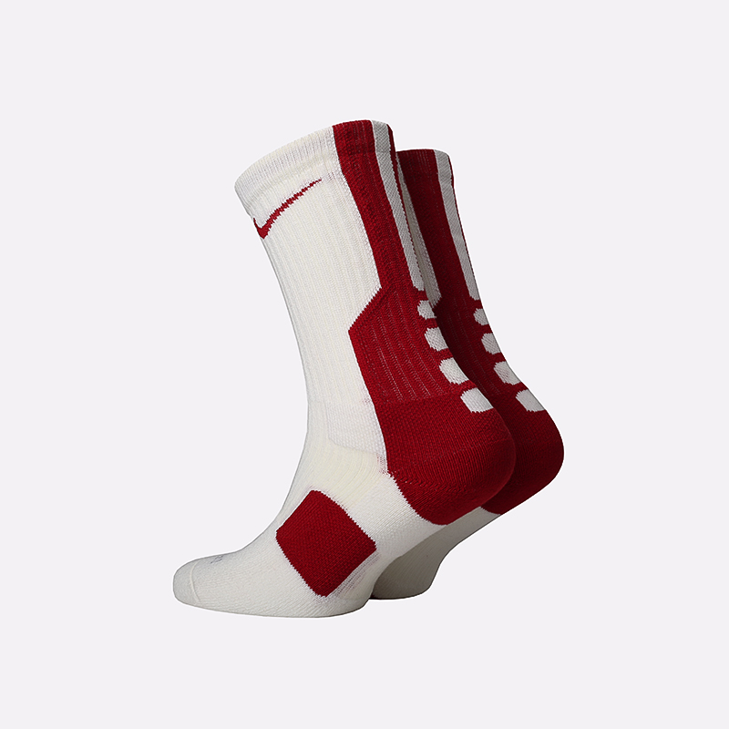 мужские белые, красные  носки nike elite SX4668-166 - цена, описание, фото 2
