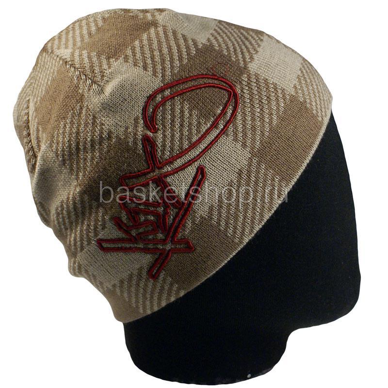 мужской коричневый, бордовый  hacksaw jim beanie 1800-0118/7803 - цена, описание, фото 2