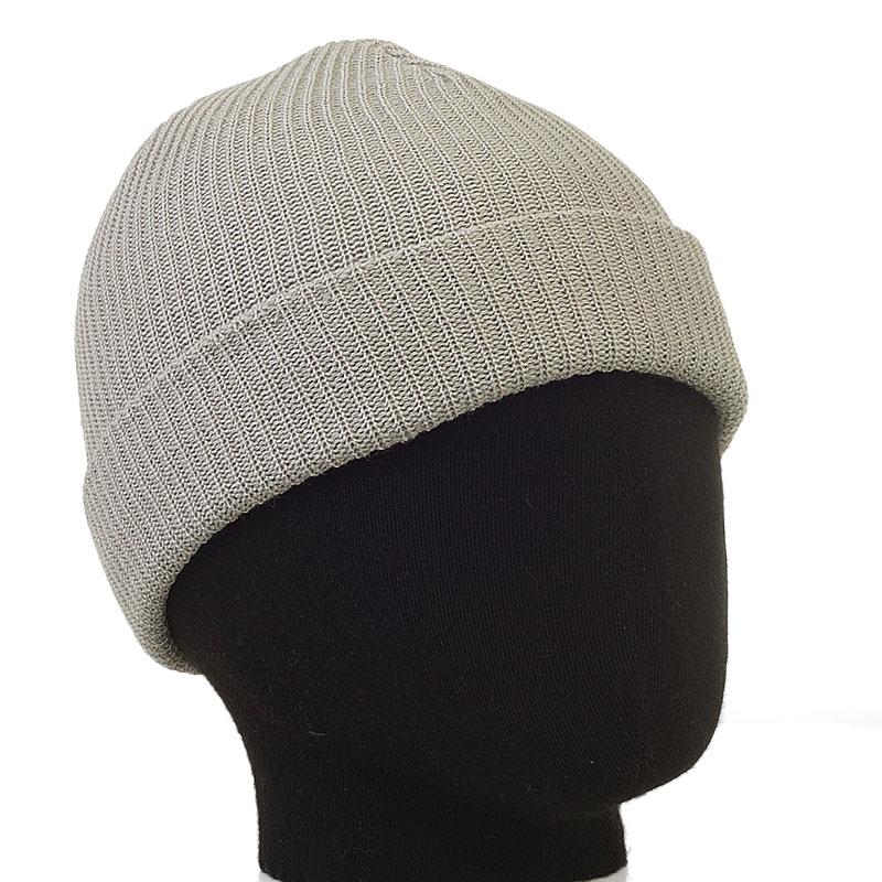 мужскую серую  шапка Official Beanie-wht - цена, описание, фото 1
