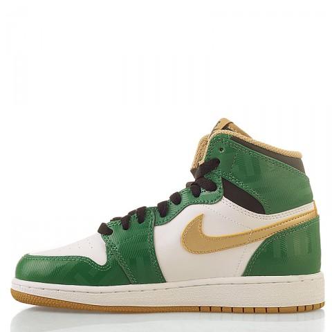 Купить детские белые, зеленые  кроссовки air jordan 1 retro high в магазинах Streetball - изображение 4 картинки