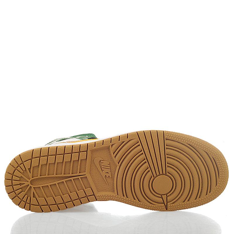 Купить детские белые, зеленые  кроссовки air jordan 1 retro high в магазинах Streetball изображение - 5 картинки