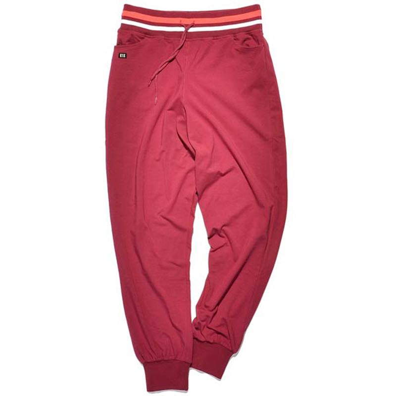 Брюки CollaredБрюки и джинсы<br>98% хлопок, 2% спандекс<br><br>Цвет: бордовый<br>Размеры US: S<br>Пол: Женский
