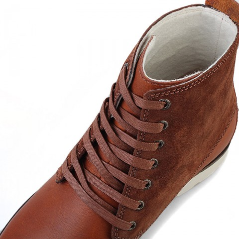 Купить мужские коричневые  ботинки caine в магазинах Streetball - изображение 5 картинки