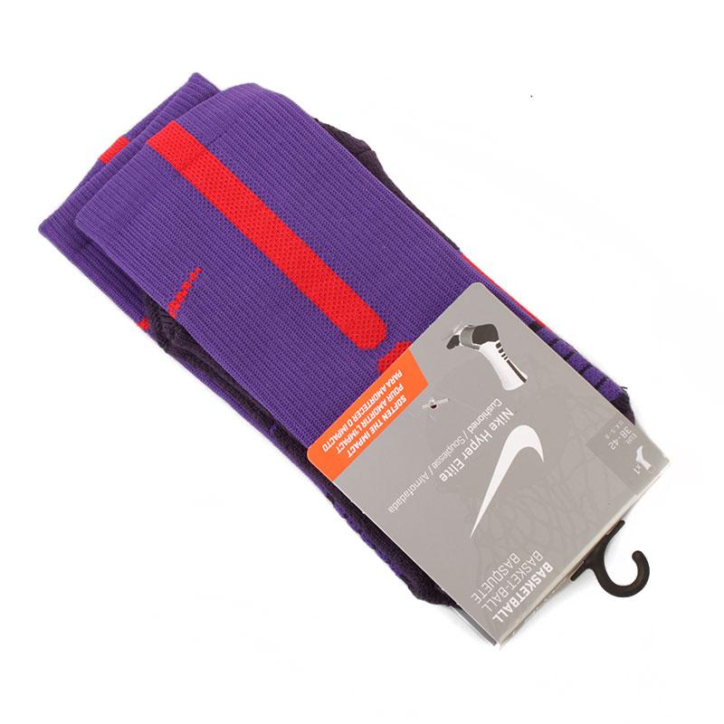 Носки Hyper EliteНоски<br>46% нейлон, 35% полиэфир, 13% хлопок, 6%<br><br>Цвет: фиолетовый<br>Размеры US: L;M;S;XL<br>Пол: Мужской