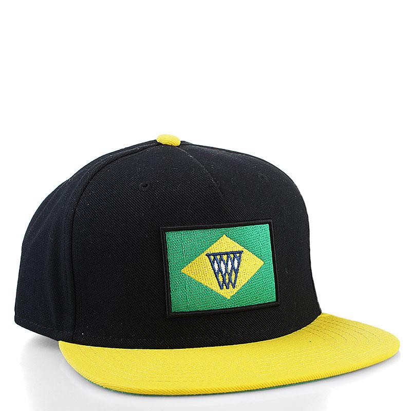 Кепка Noh BrazilКепки<br>100% полиэстер<br><br>Цвет: черный<br>Размеры US: 1SIZE<br>Пол: Мужской