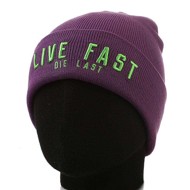 мужскую фиолетовую  шапка live face-purple - цена, описание, фото 1