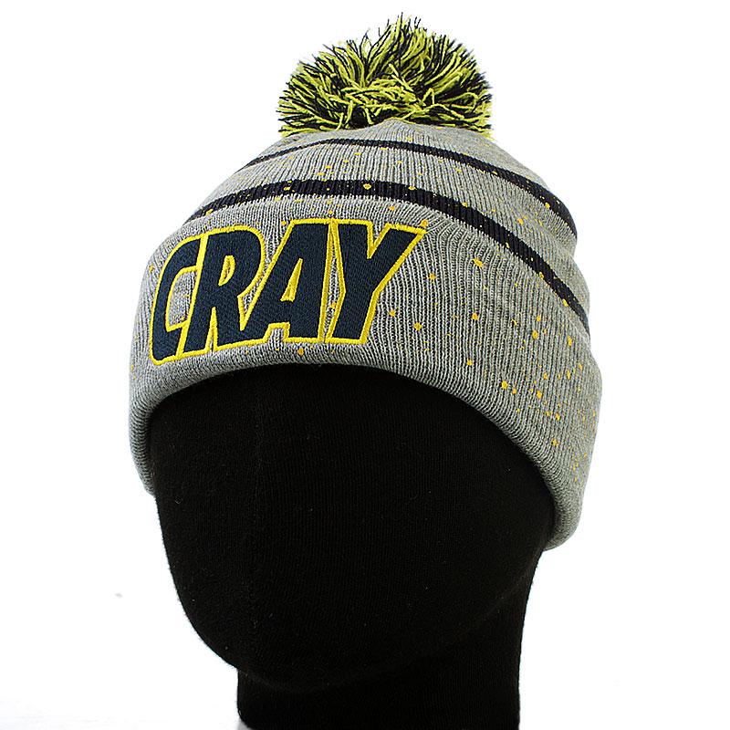 мужскую серую  шапка c&s cray pom pom cay-aw13-bn-04-01 - цена, описание, фото 1