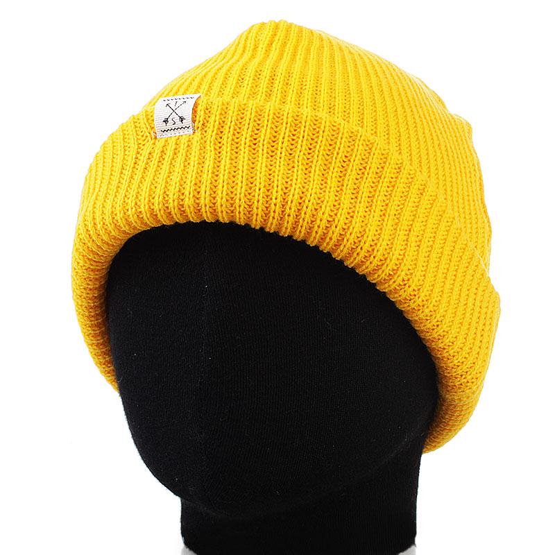 Шапка NativeШапки<br>100% акрил<br><br>Цвет: желтый<br>Размеры : OS<br>Пол: Мужской