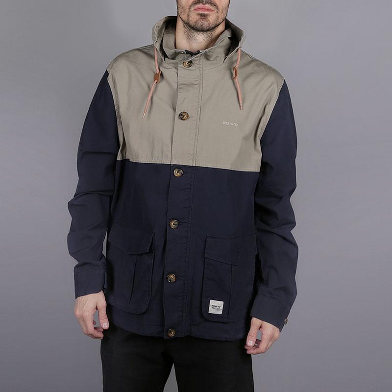 Куртка Wemoto BrenanКуртки, пуховики<br>100% хлопок<br><br>Цвет: Синий, бежевый<br>Размеры US: XL<br>Пол: Мужской