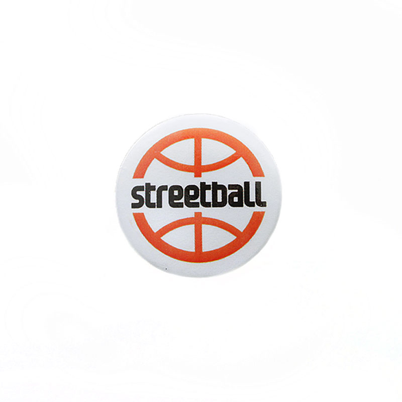 белый  значок streetball/ - цена, описание, фото 1