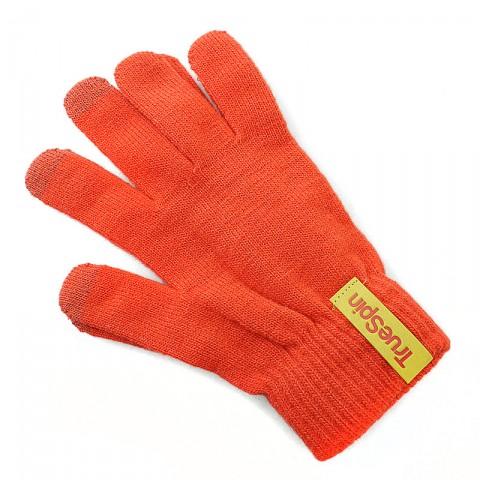 мужские оранжевые  перчатки touch glove-red - цена, описание, фото 1
