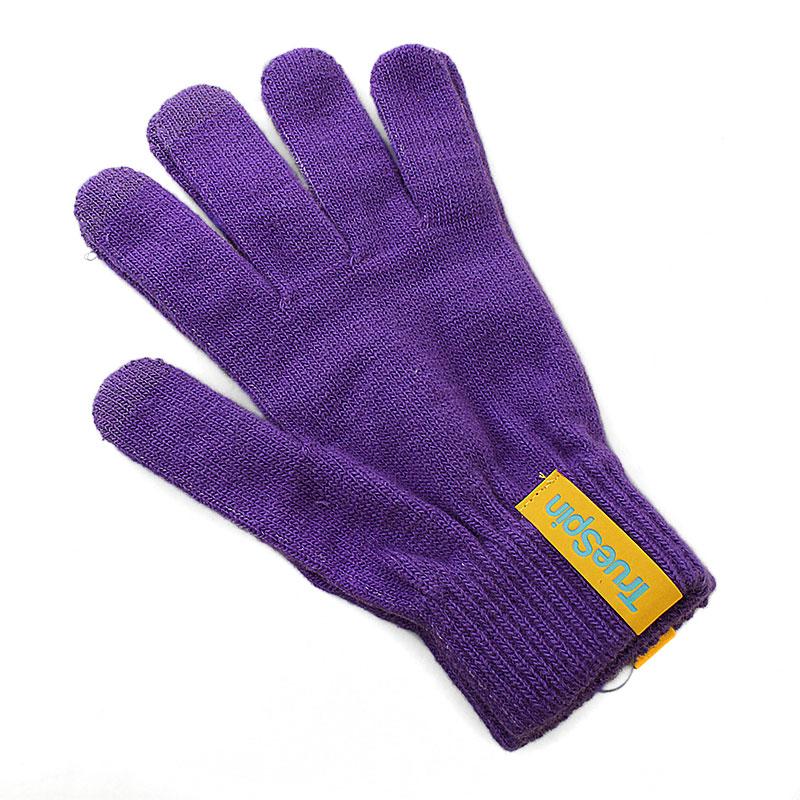 Купить мужские фиолетовые  перчатки touch в магазинах Streetball изображение - 1 картинки