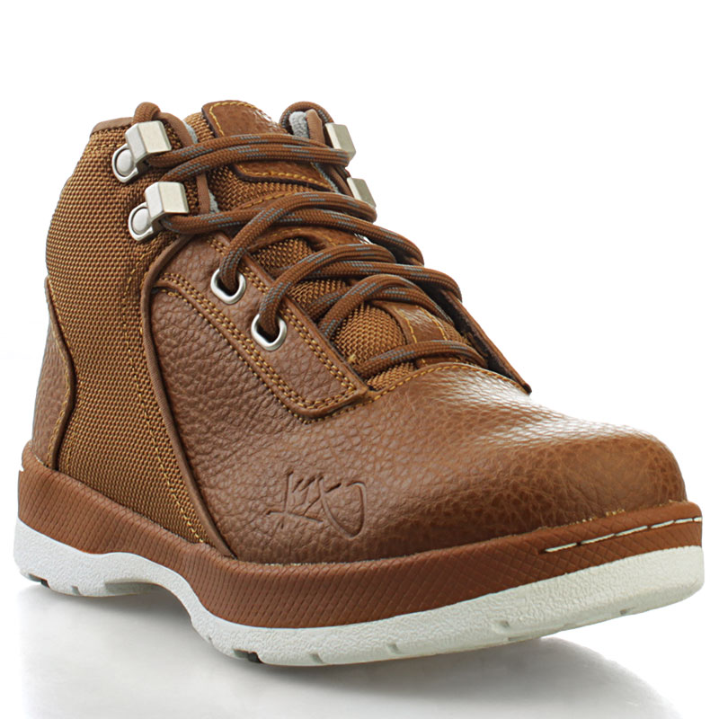 Ботинки K1X H1ke Le GSБотинки<br>кожа, синтетика, резина<br><br>Цвет: коричневый<br>Размеры US: 4;4.5;5.5<br>Пол: Детский