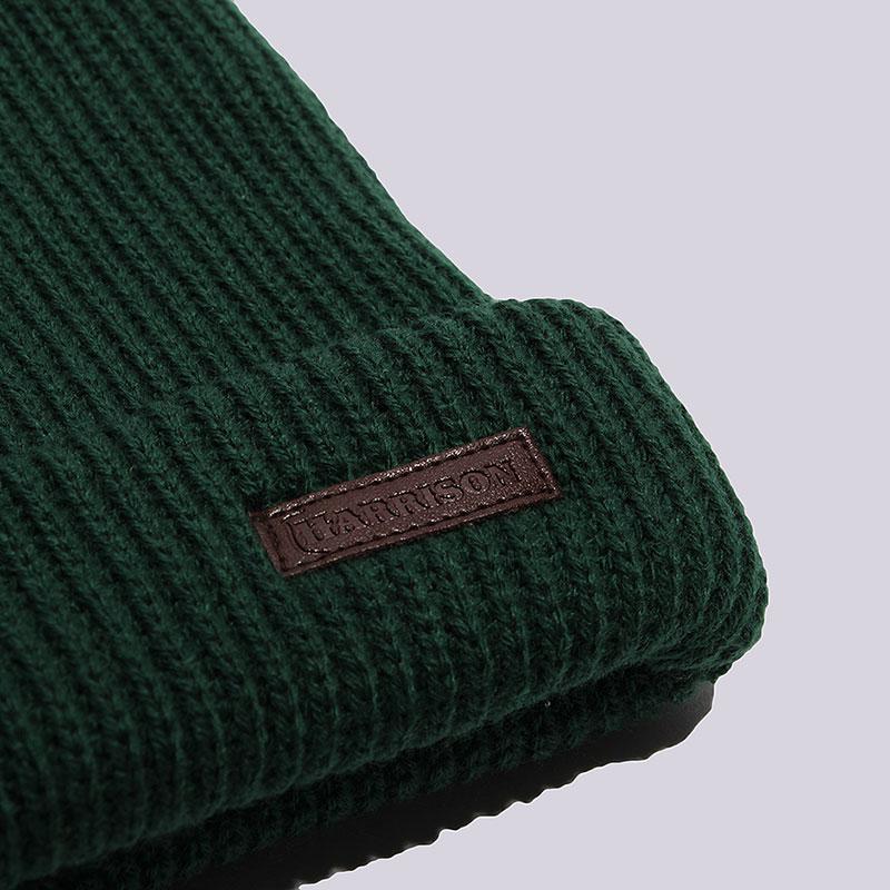 зеленую  шапка harrison benjamin-dk-green - цена, описание, фото 2