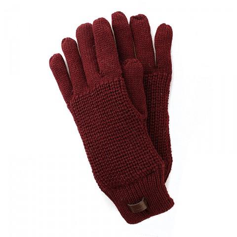 Купить мужские бордовые  перчатки в магазинах Streetball - изображение 1 картинки