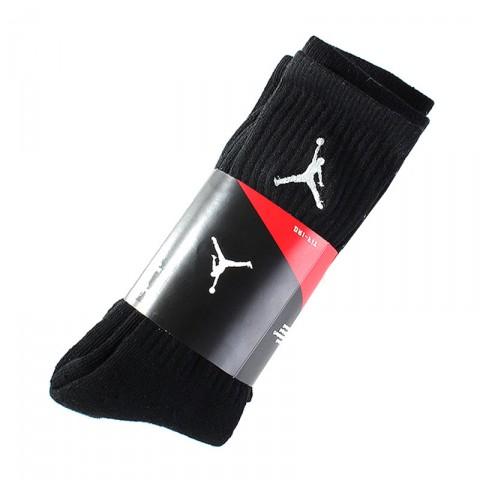 мужские черные  носки air jordan dri-fit crew (3 пары) 546481-012 - цена, описание, фото 1