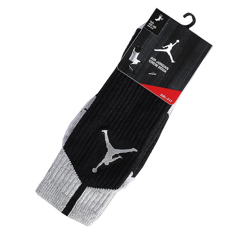 Носки Air JordanНоски<br>62% полиэстер, 19% нейлон, 17% хлопок, 2%<br><br>Цвет: Черный, серый<br>Размеры US: S;L;XL<br>Пол: Мужской