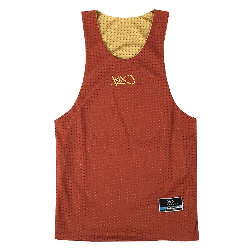 Майка hardwood rev practice jerseyБезрукавки<br>100 % полиэстер<br><br>Цвет: Коричневый, золотой<br>Размеры US: XXS