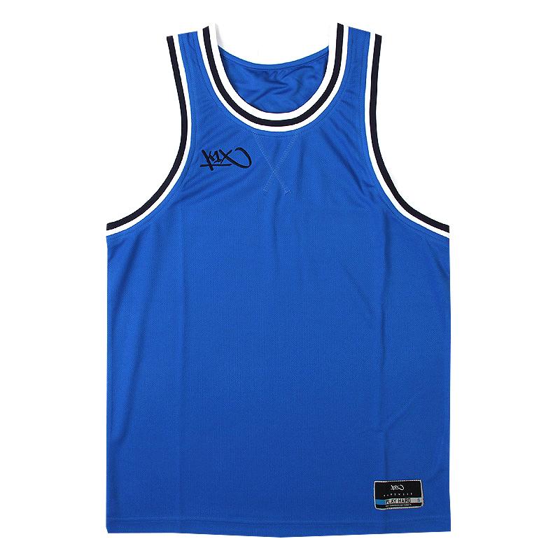 Майка Hardwood Double X JerseyБезрукавки<br>100 % полиэстер<br><br>Цвет: Синий, черный, белый<br>Размеры US: 3XL